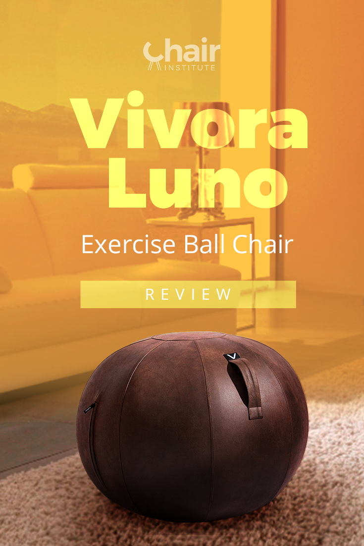 The Vivora Luno Exercise Ball Chair combines both modern styles with the functionality of a fitness ball chair. Find out how it performs in our review! @vivoralifestyle