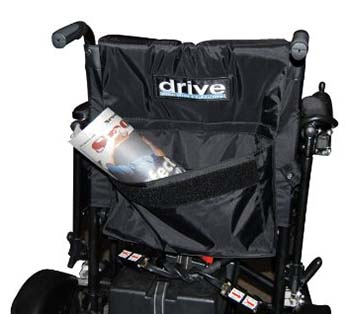 An image of Drive Medical Cirrus Plus storage pocket located at the back.