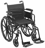 Drive Medical Cruiser X4 wheelchair in black color facing right