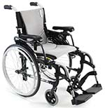 Karman S-305 Ergonomic Wheelchair in silver color facing right