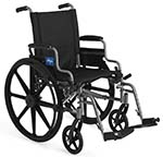 Medline K4 wheelchair in black color facing right