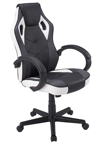 An image of Coavas High-Back PU Leather office chair in white.
