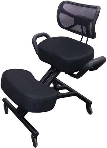 Image of Sleekform Ergonomic Kneeling Chair With Backrest and Handles