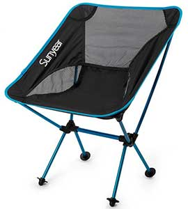 An Image Sample of Black Variants of Sunyear Compact Folding Backpack Chair