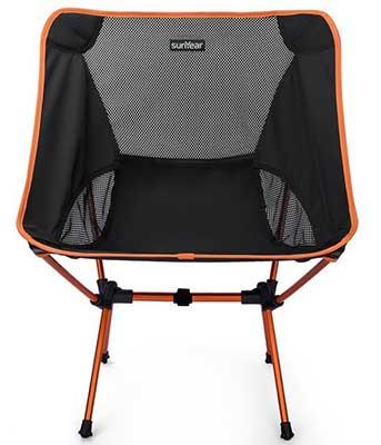 Black and Orange Sunyear Compact Folding Chair