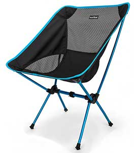 An Image Sample of Blue Variants of Sunyear Compact Folding Backpack Chair