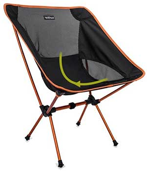 An Image Sample of Deep Seat-Design of Sunyear Compact Folding Backpack Chair