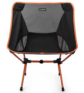 An Image Sample of Orange Variants of Sunyear Compact Folding Backpack Chair