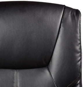 An Image Sample of AmazonBasics High-Back Executive Chair Bonded Black Leather + PVC Upholstery