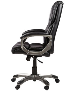 An Image Sample of AmazonBasics High-Back Executive Chair Seat-Height Adjustment & Mobility