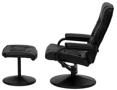 An Image Sample Of Flash Furniture Contemporary Leather Recliner Chair:  Side View