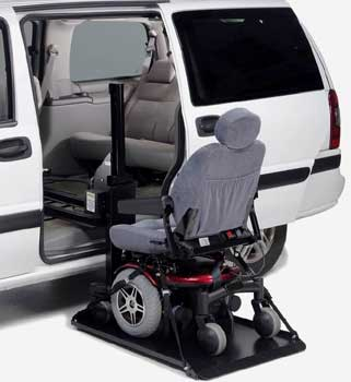 An Image Sample of Electric Lift for How to Transport a Wheelchair