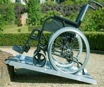 An Image Sample of Ramp Assist for How to Transport a Wheelchair