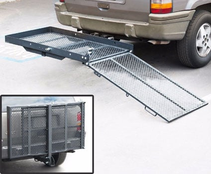 An Image Sample of Transport Rack for How to Transport a Wheelchair
