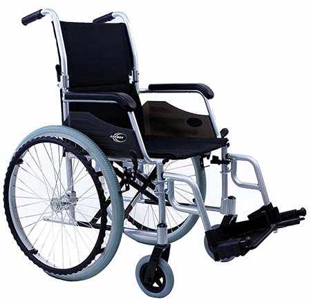 An image of Karman LT-980 Ultra Lightweight Wheelchair in silver color