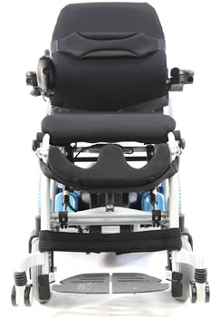 An Image Sample of Front View of Karman XO-202 Electric (Standing) Wheelchair