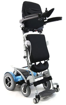 An Image Sample of Full Stand-Up View of Karman XO-202 Electric (Standing) Wheelchair