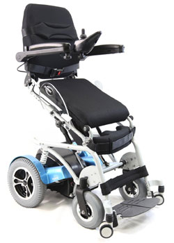 An Image Sample of Standing View of Karman XO-202 Electric (Standing) Wheelchair