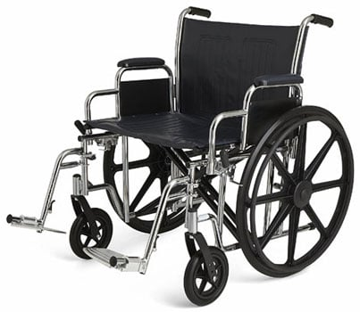 Medline Bariatric Wheelchair Right Angle View - Chair Institute