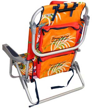 An Image Sample of Tommy Bahama Backpack Cooler Chair Backside View