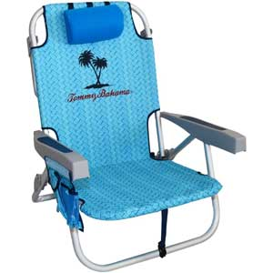 An Image Sample of Tommy Bahama Backpack Cooler Chair: Blue Nature