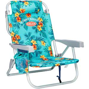 An Image Sample of Tommy Bahama Backpack Cooler Chair: Floral