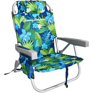 An Image Sample of Tommy Bahama Backpack Cooler Chair: Multicolor Leaves