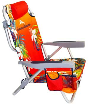 An Image Sample of Tommy Bahama Backpack Cooler Chair Side View