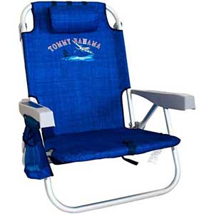 An Image Sample of Tommy Bahama Backpack Cooler Chair: Solid Navy