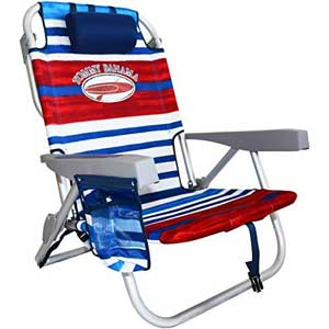 An Image Sample of Tommy Bahama Backpack Cooler Chair: Striped
