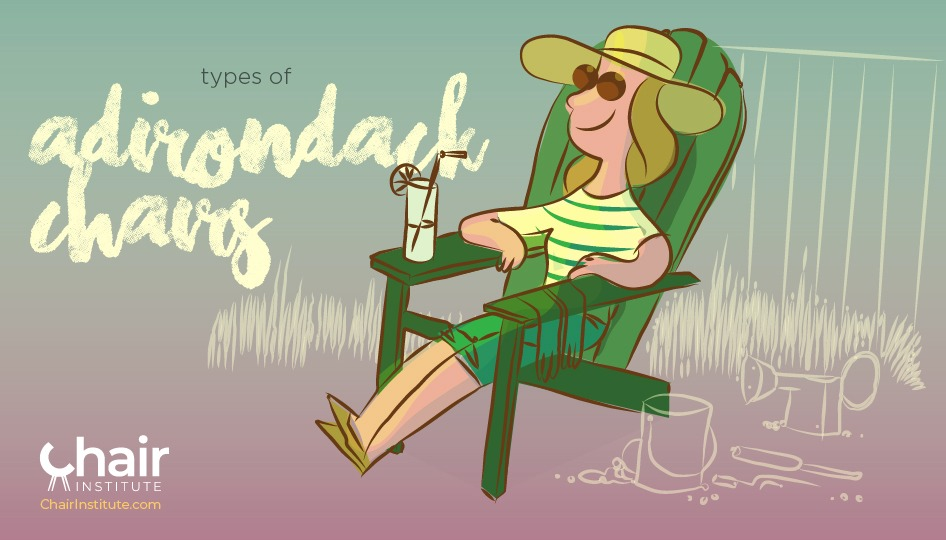 Illustration of a lady resting on an Adirondack Chair
