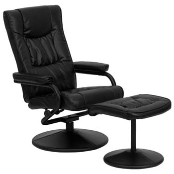 A Left View Image of Best Lounge Chair for Posture: BT-7862-BK-GG, by Flash Furniture
