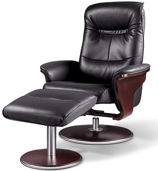 A Right View Image of Best Lounge Chair for Posture: Milano Recliner, by Artiva USA