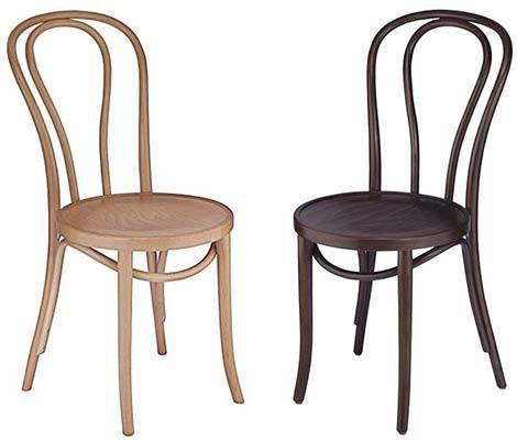 two bentwood cafe chairs, type of chairs for wedding