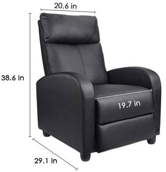 homall single recliner chair review and ratings 2018