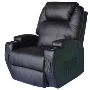 HOMCOM Swivel Massage PU Leather Recliner Chair Review 2020