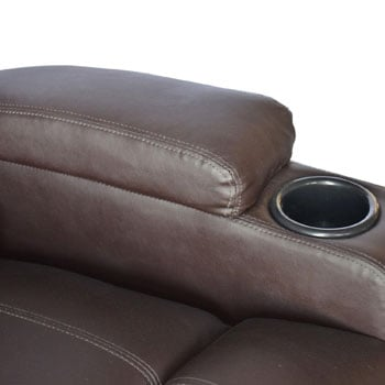 Cup Holder of the HOMCOM Swivel Massage PU Leather Recliner Chair