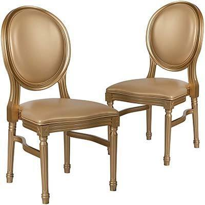 King Louis XVI Chair, types of gold wedding chairs