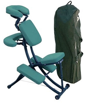An image of the Oakworks Portal Pro 3 in Blue Grass Terratouch Upholstery on the left  sc 1 st  The Chair Institute & Oakworks Portal Pro 3 Portable Massage Chair Review 2019