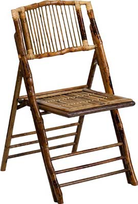 Rattan folding chair, types of chairs used at weddings