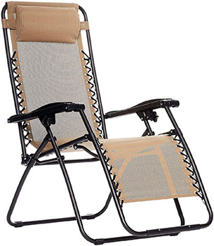 amazonbasics zero gravity outdoor lounge chair review 2019. Black Bedroom Furniture Sets. Home Design Ideas