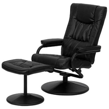 A Right View Image of Best Lounge Chair for Posture: BT-7862-BK-GG, by Flash Furniture