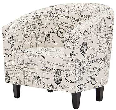 Best Choice Products Modern Contemporary Barrel Accent Chair facing left