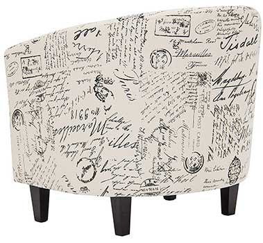 Ergonomic Backrest & Solid Wood Legs of Best Choice Products French Script Chair