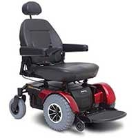 Black Color, Pride Mobility JAZZY1450 with Capacity of 600 lbs, in Left Position