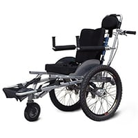 Black Color, ORC Off Road Wheelchair with T6 – 6061 Aluminum, in Right Position