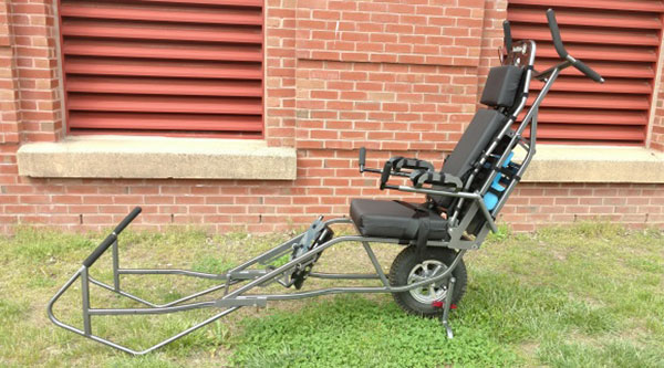 A Side View Image of Black Diamond TrailRider Wheelchair