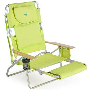 Lime Green Ostrich Padded Chair