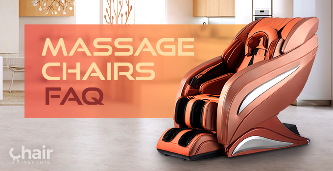 Image of a massage chair with the title: Massage Chairs FAQ