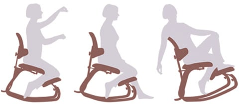 An Image of How to Sit in a Kneeling Chair: Sit in a Kneeling Posture Chair